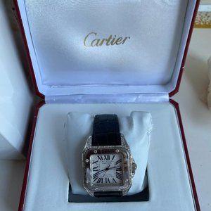 Cartier Men's Santos 100 XL Diamond Watch (PREOWN)